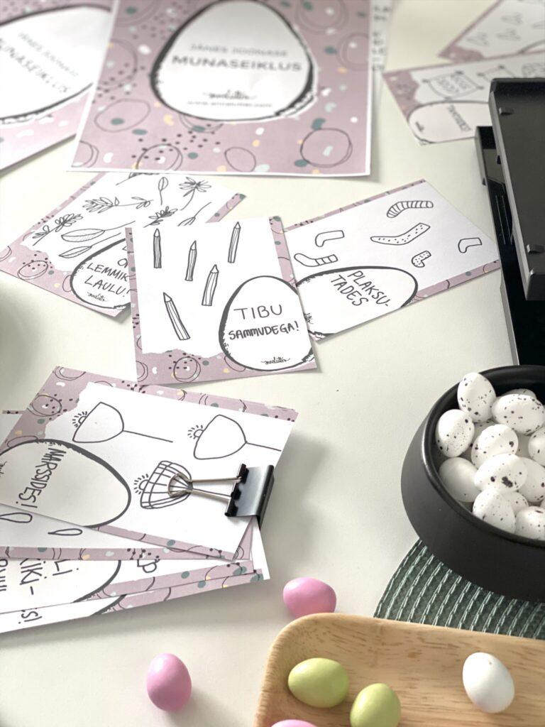 mäng lastele aaretejaht munadepüha